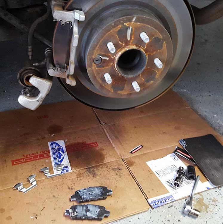2012 Nissan Maxima Brake Pads And Rotor Replacement